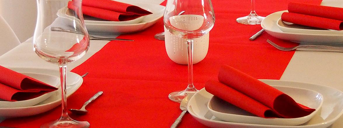 Salle de restaurant, produits le Nappage