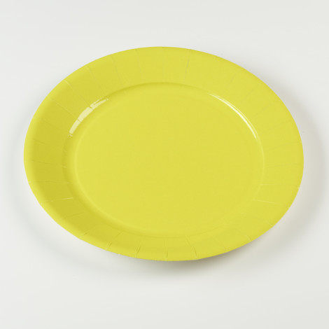 Assiettes en carton rigide de couleur vert kiwi