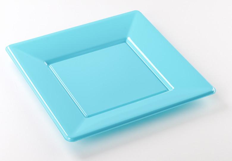 & Square plastic plates 23cm - Le Nappage
