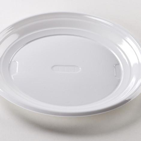 Assiettes plate de couleur blanche