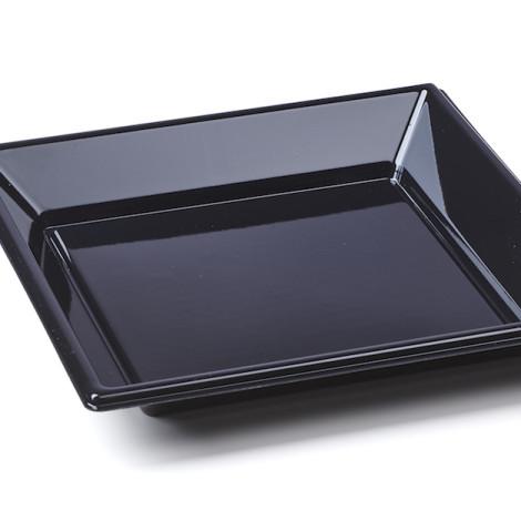 Assiettes creuses en plastique rigide de couleur noir