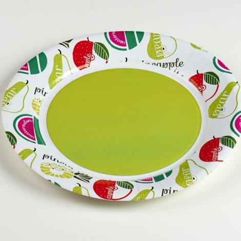 Assiettes en carton rondes Tuttifrutti