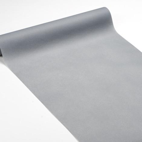 Chemin de table 3 en 1 gris, servant également à habiller les vis-à-vis et de set de table qualité réception.