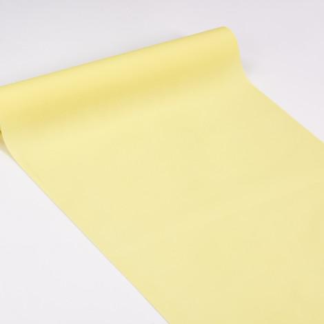 Chemin de table 3 en 1 jaune pâle, servant également à habiller les vis-à-vis et de set de table qualité réception.