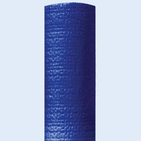 Nappe en papier bleu nuit gaufrée pour une ambiance feutrée.