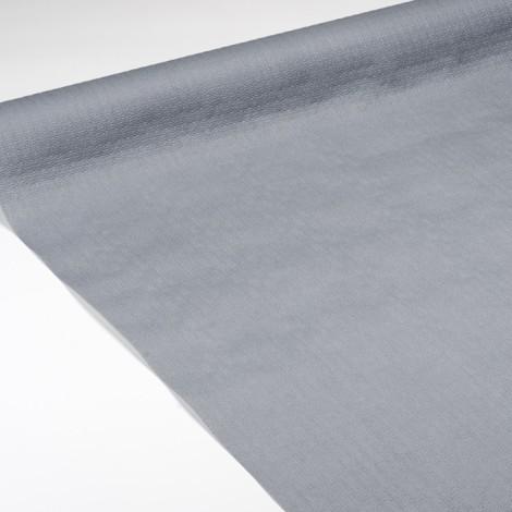 Nappe en papier gaufrée grise, pour des tables élégantes.