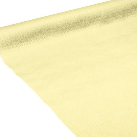 Nappe en papier jaune pâle gaufrée
