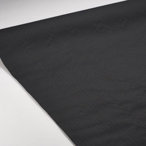 Nappe en papier gaufrée noire, idéale pour une table chic et élégante.
