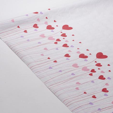 Nappe Love colorée, motifs coeurs. Idéale pour dîner romantique ou pour la fête des mères