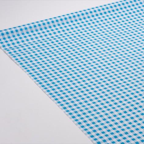 Nappe Vichy, motifs à carreaux de couleur bleu, pour de jolies tables de picnics