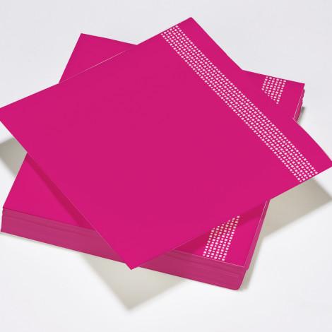 Serviettes célébration chic et moderne couleur rose fushia