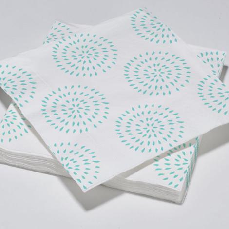 Serviettes en papier modernes cercles aqua