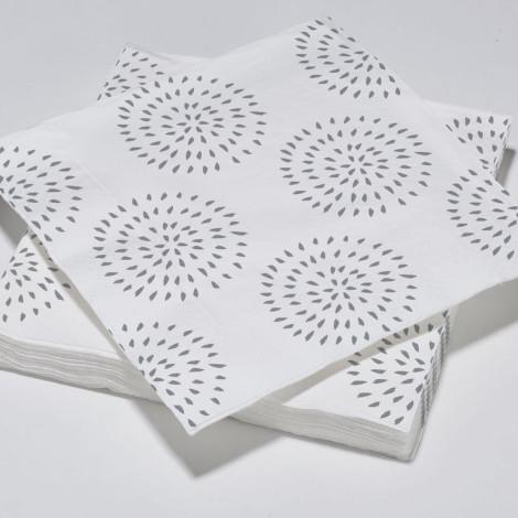 Serviettes en papier modernes cercles gris