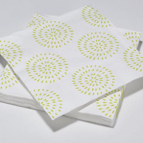 Serviettes en papier modernes cercles jaune