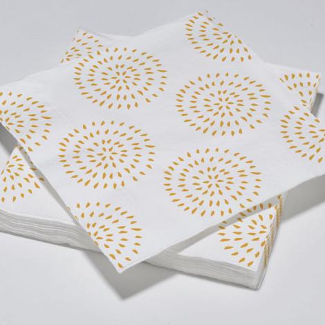 Serviettes en papier modernes cercles orange mandarine