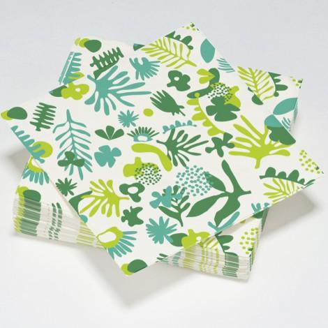 Serviettes en papier exotic vertes