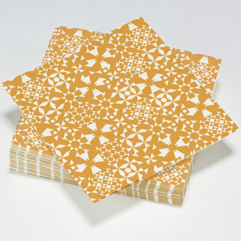 Serviettes en papier fractal, illusion d'optique orange mandarine