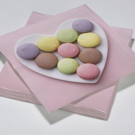 Serviettes en papier pastels motif Macarons