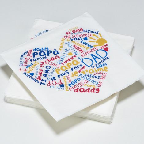Serviettes en papier fête des pères papa