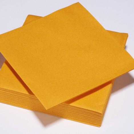 Serviettes épaisses orange mandarine, qualité réception.