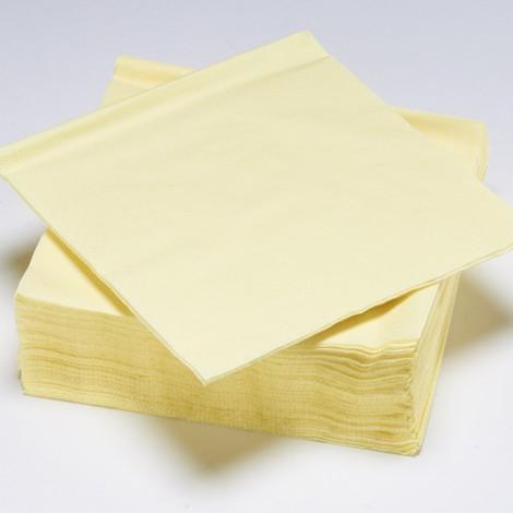Serviettes épaisses de couleur jaune pâle