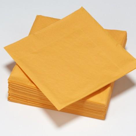 Serviettes épaisses de couleur mandarine orange