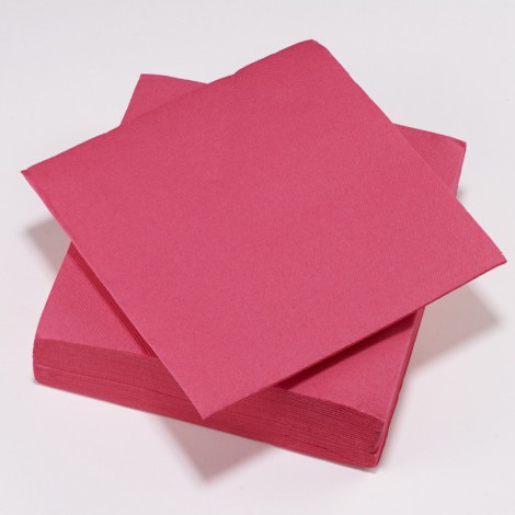 Serviettes couleur rose fuchsia