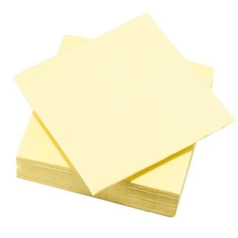 Serviettes couleur jaune pâle
