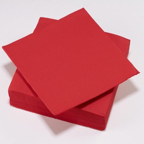 Serviettes de couelur rouges