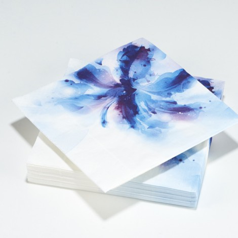 Serviettes en papier tropical flower, aquarelles fleurs