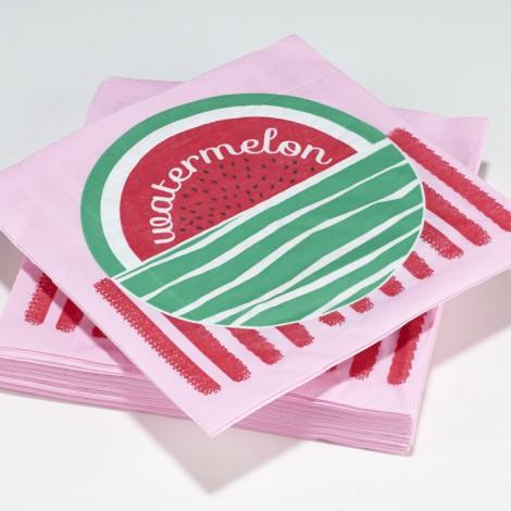 Serviettes en papier tuttifrutti watermelon pamplemousse