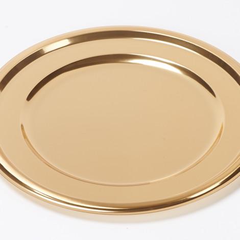 Sous assiette en plastique alimentaire de couleur or