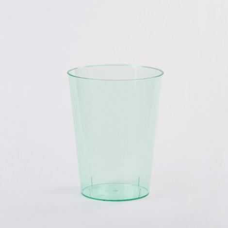 Verre en plastique de couleur bleu aqua