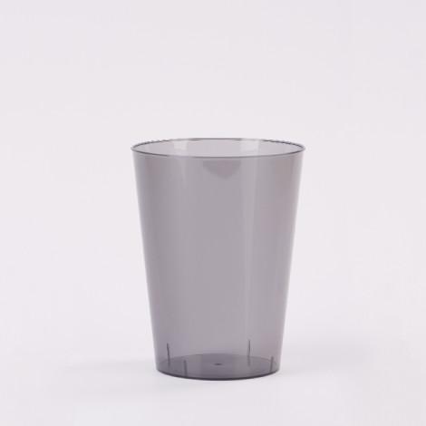 Verre en plastique de couleur noir