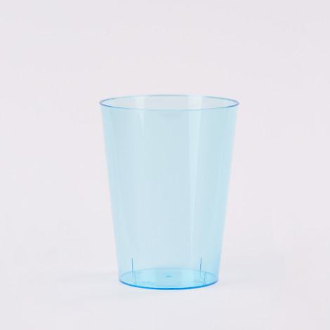 Verre en plastique de couleur bleu turquoise