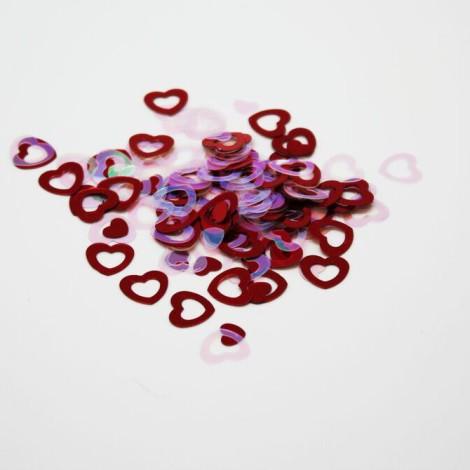Confettis coeur rouge